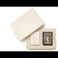 AERIN CREAM SHAGREEN CARD CASE
