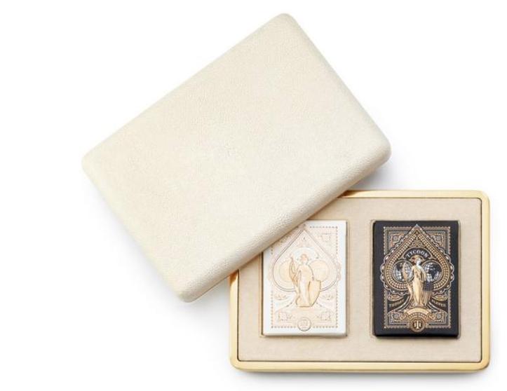 AERIN AERIN CREAM SHAGREEN CARD CASE
