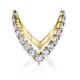 ANITA KO 18K ROUND DIAMOND V RING 6.5