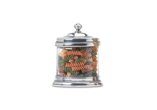 MATCH MATCH PEWTER GLASS CANISTER SMALL