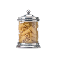 MATCH PEWTER GLASS CANISTER MEDIUM