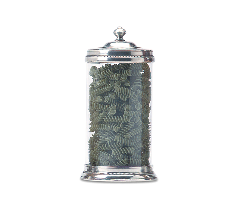 MATCH PEWTER GLASS CANISTER LARGE