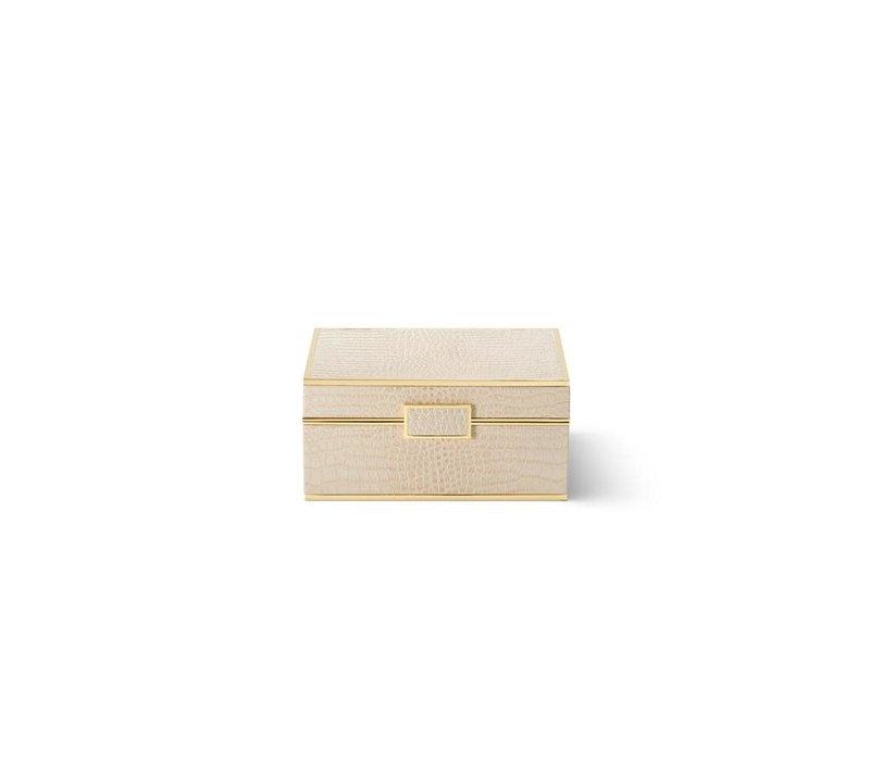 AERIN CLASSIC CROC SMALL JEWELRY BOX