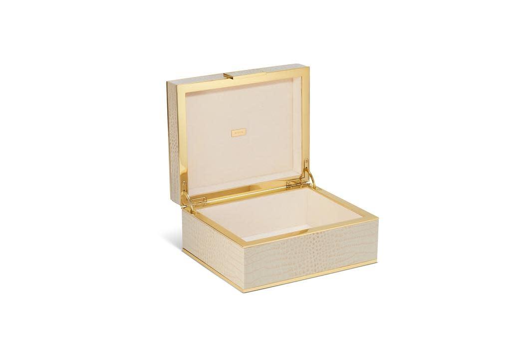 AERIN AERIN CLASSIC CROC SMALL JEWELRY BOX