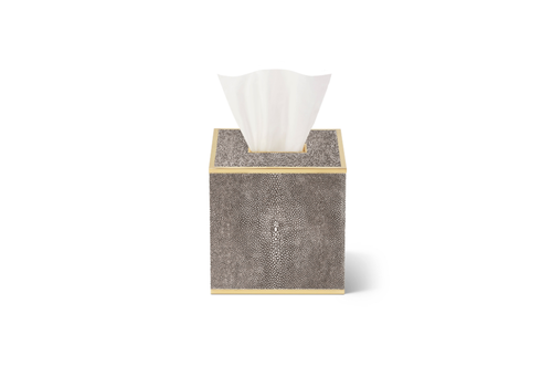 AERIN AERIN CLASSIC SHAGREEN TISSUE BOX COVER CHOCOLATE