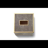AERIN CLASSIC SHAGREEN TISSUE BOX COVER CHOCOLATE