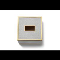 AERIN CLASSIC SHAGREEN TISSUE BOX COVER DOVE