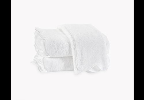 MATOUK MATOUK CAIRO SCALLOPED BATH TOWEL WHITE