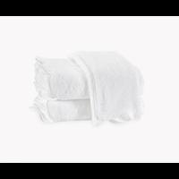 MATOUK CAIRO SCALLOPED HAND TOWEL WHITE