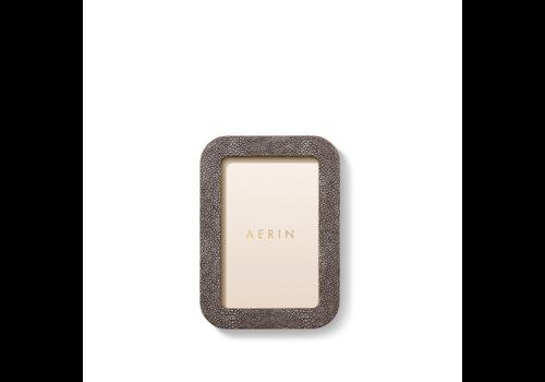 AERIN AERIN MODERN SHAGREEN FRAME CHOCOLATE 4X6