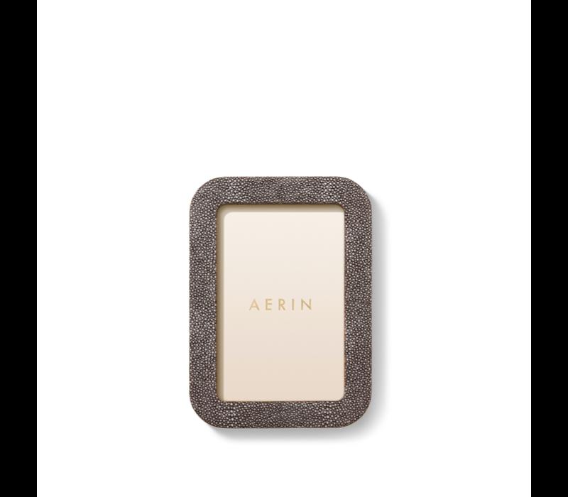 AERIN MODERN SHAGREEN FRAME CHOCOLATE 4X6