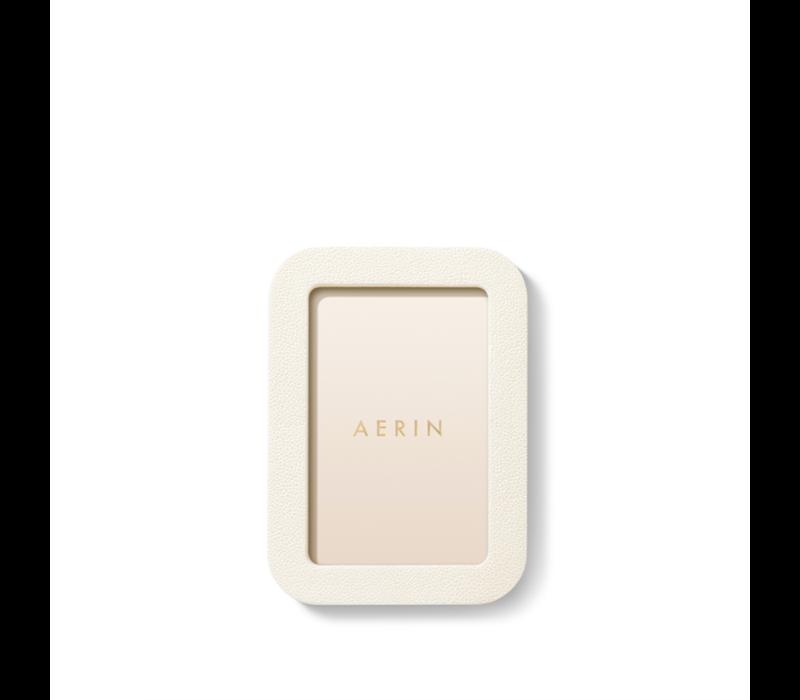 AERIN MODERN SHAGREEN FRAME CREAM 4X6