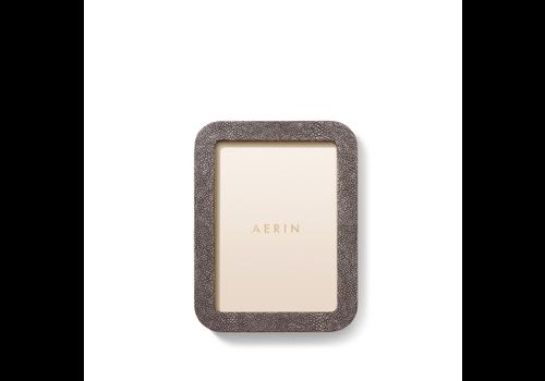 AERIN AERIN MODERN SHAGREEN FRAME CHOCOLATE 5X7