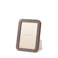 AERIN MODERN SHAGREEN FRAME CHOCOLATE 5X7