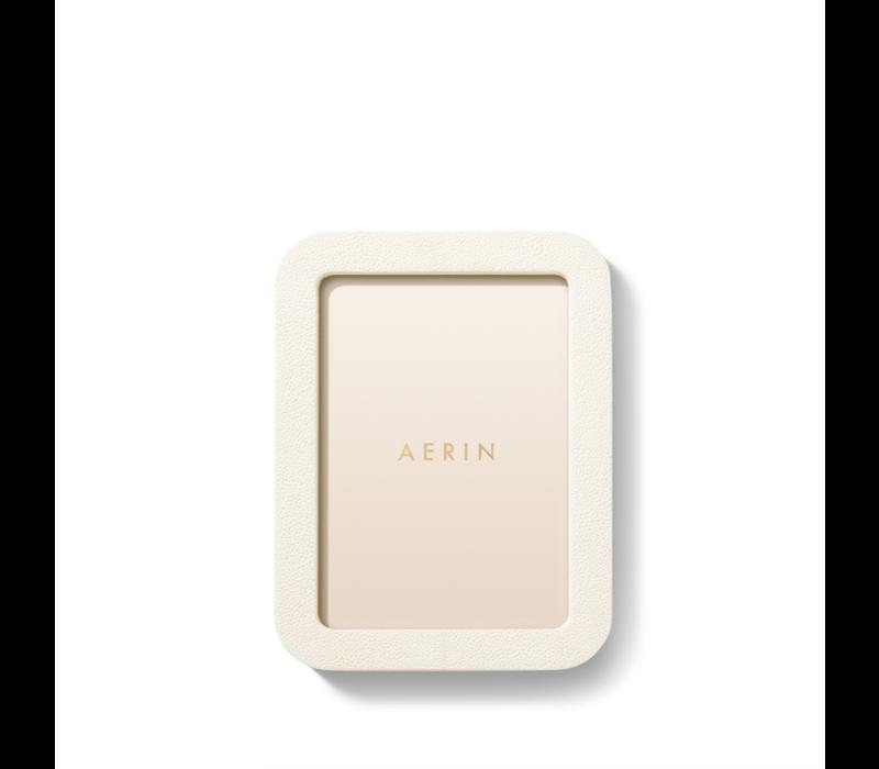 AERIN MODERN SHAGREEN FRAME CREAM 5X7