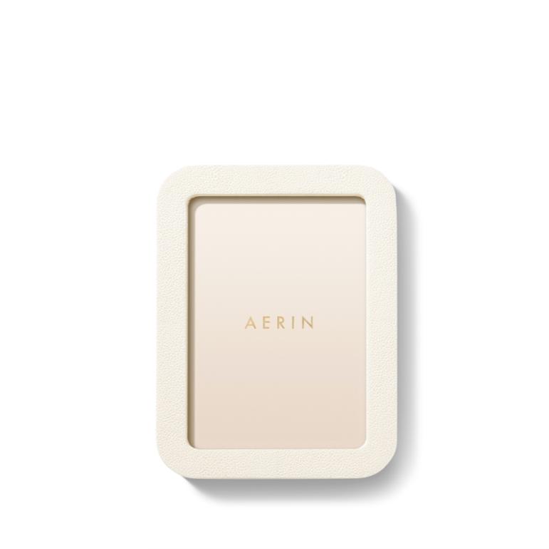 AERIN AERIN MODERN SHAGREEN FRAME CREAM 5X7