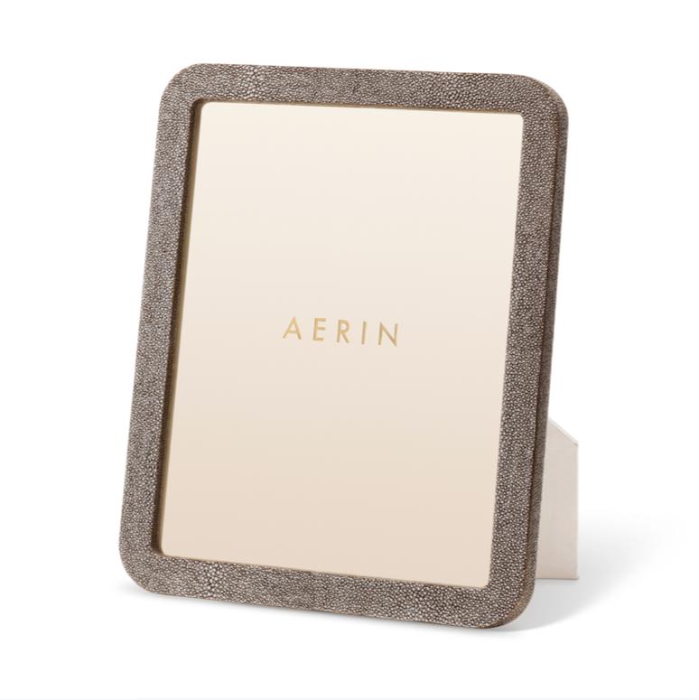 AERIN AERIN MODERN SHAGREEN FRAME CHOCOLATE 8X10