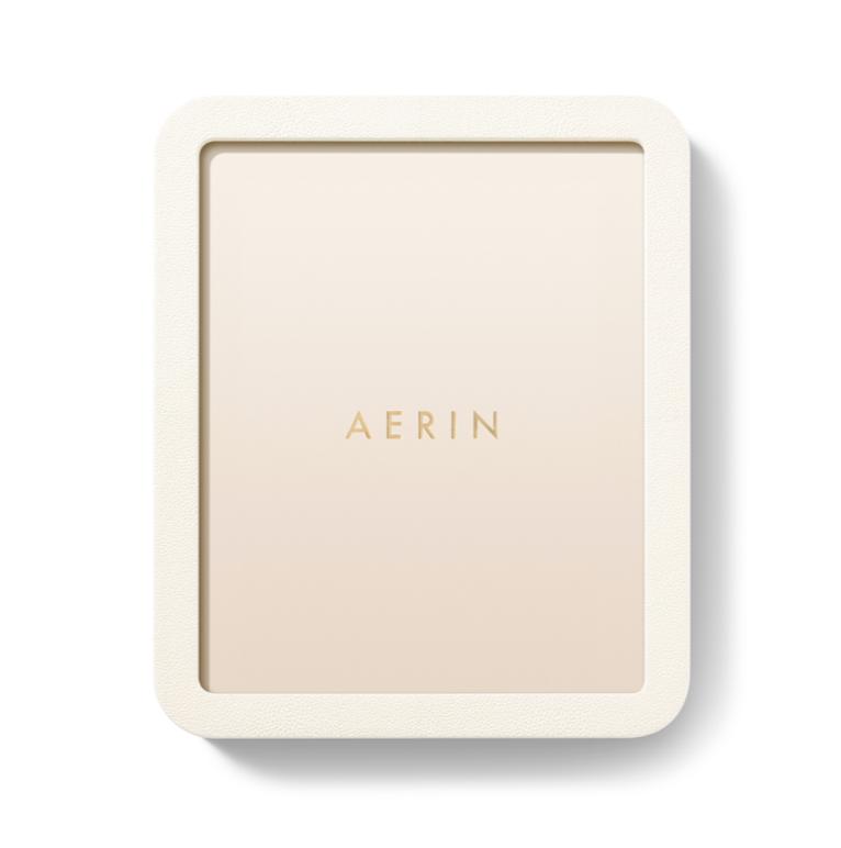 AERIN AERIN MODERN SHAGREEN FRAME CREAM 8X10