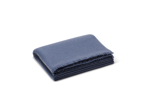 AERIN AERIN NOE CASHMERE THROW DUSK BLUE