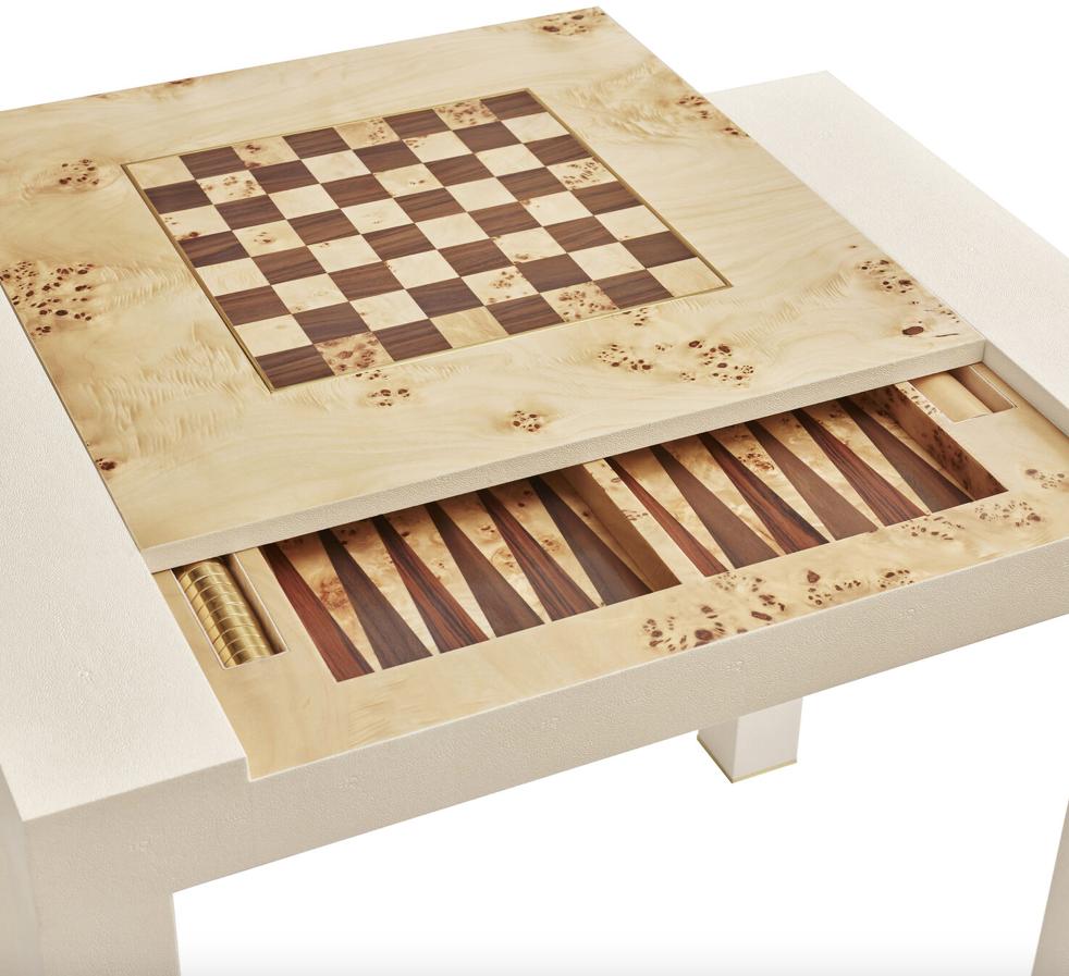 AERIN AERIN SHAGREEN GAME TABLE
