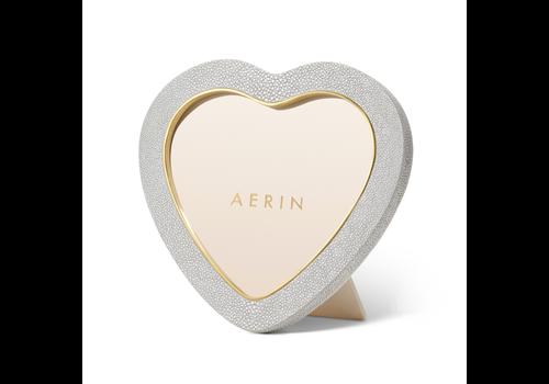 AERIN AERIN DOVE SHAGREEN HEART FRAME