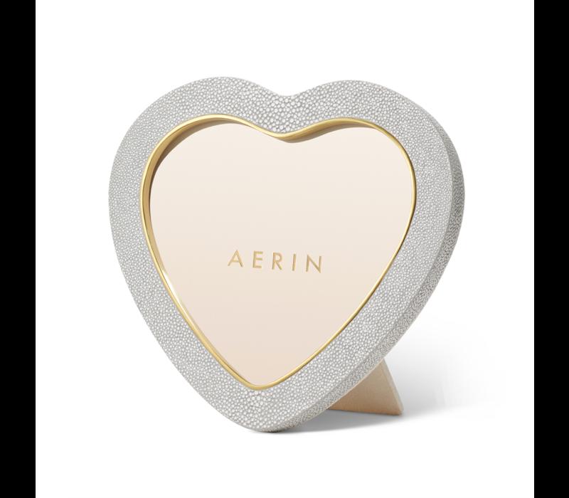 AERIN DOVE SHAGREEN HEART FRAME