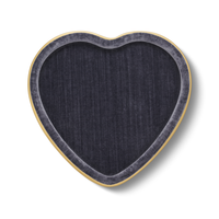 AERIN VALENTINA VELVET HEART TRAY DUSK BLUE