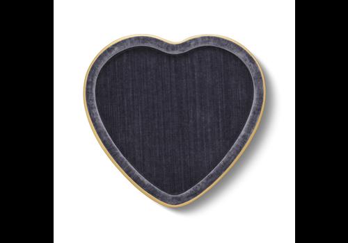 AERIN AERIN VALENTINA VELVET HEART TRAY DUSK BLUE