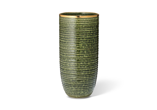 AERIN AERIN CALINDA TALL VASE FOREST GREEN