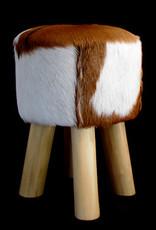 Stool goat leather pony stool