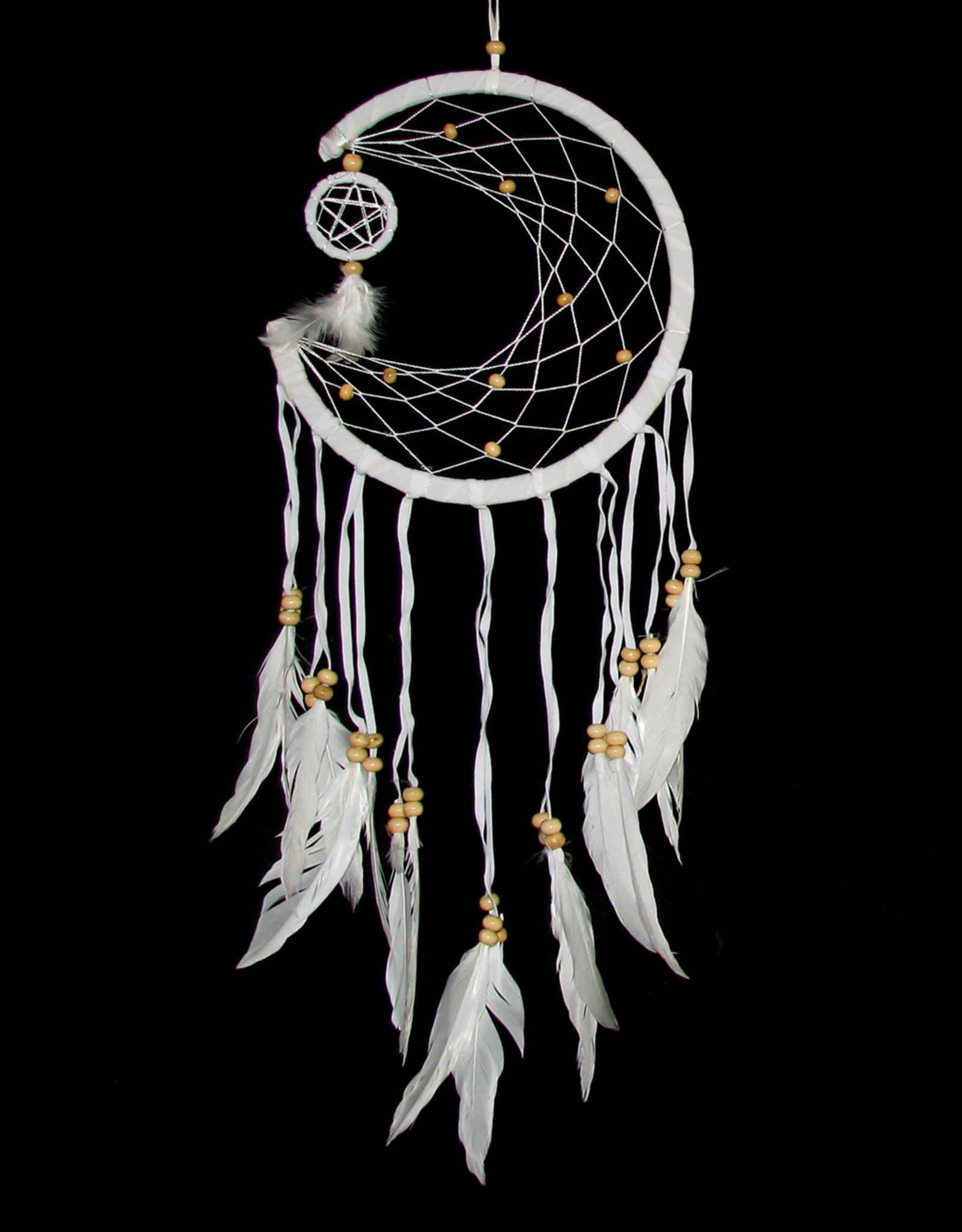 DC112, Dream Catcher 1/2 moon with tiny circle