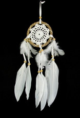 DC148, Dreamcatcher, rope and feathers.