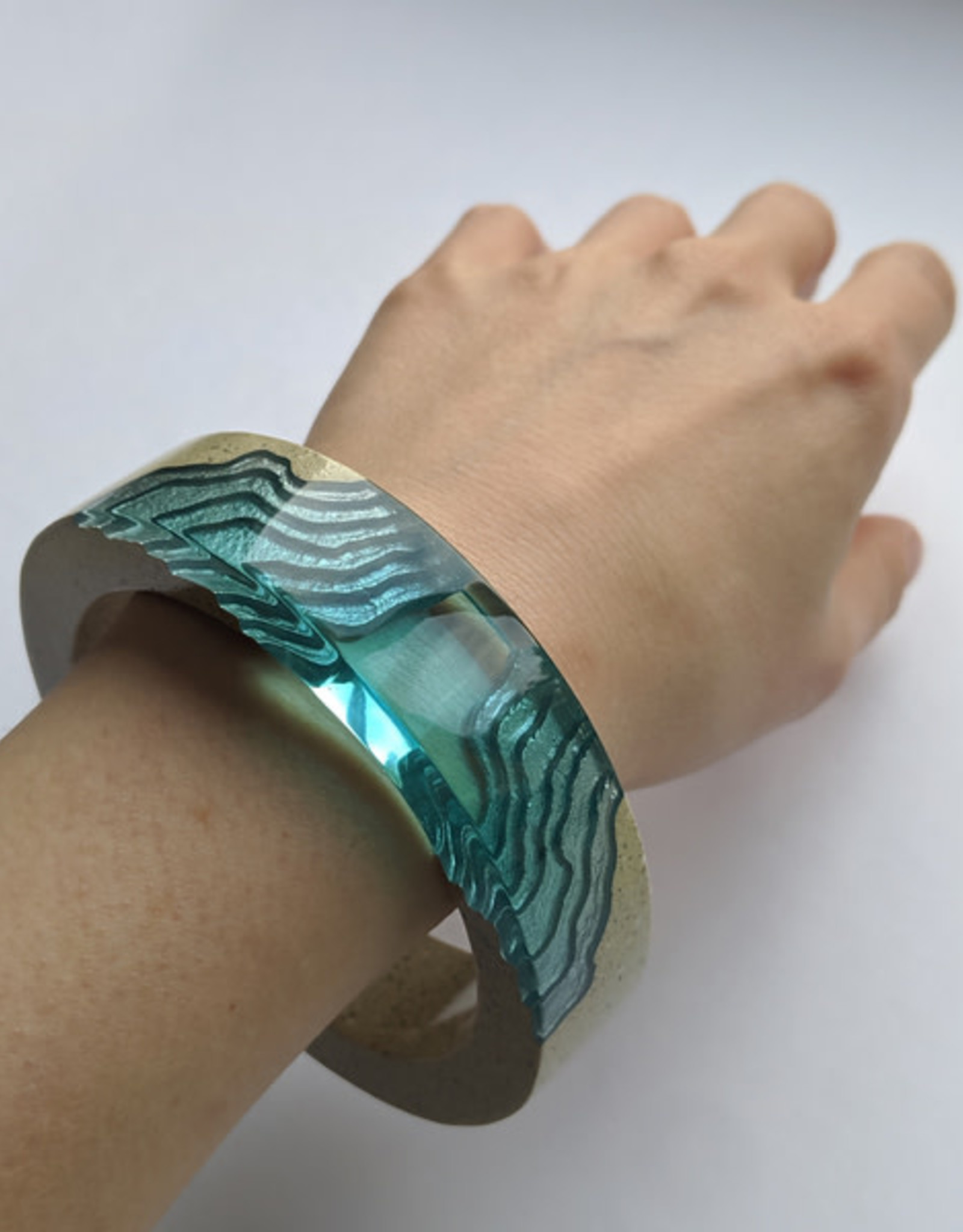 BOLDB 134000004 ESTUARY AQUA BANGLE LG