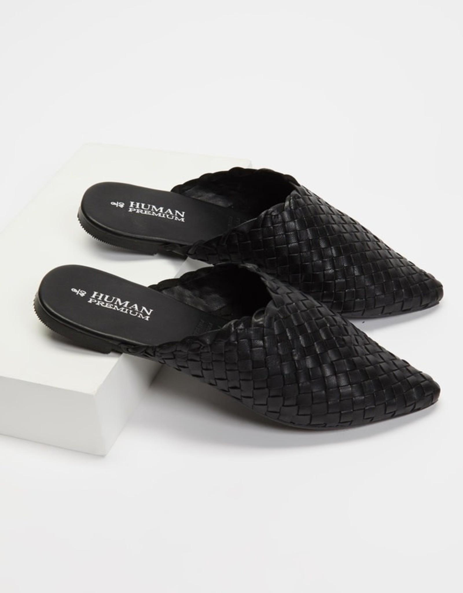 HUMAN Human Shoes - Mojo Leather Slide (Black & Natural)