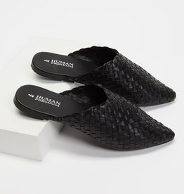 HUMAN Mojo Leather Slide (Black & Natural)