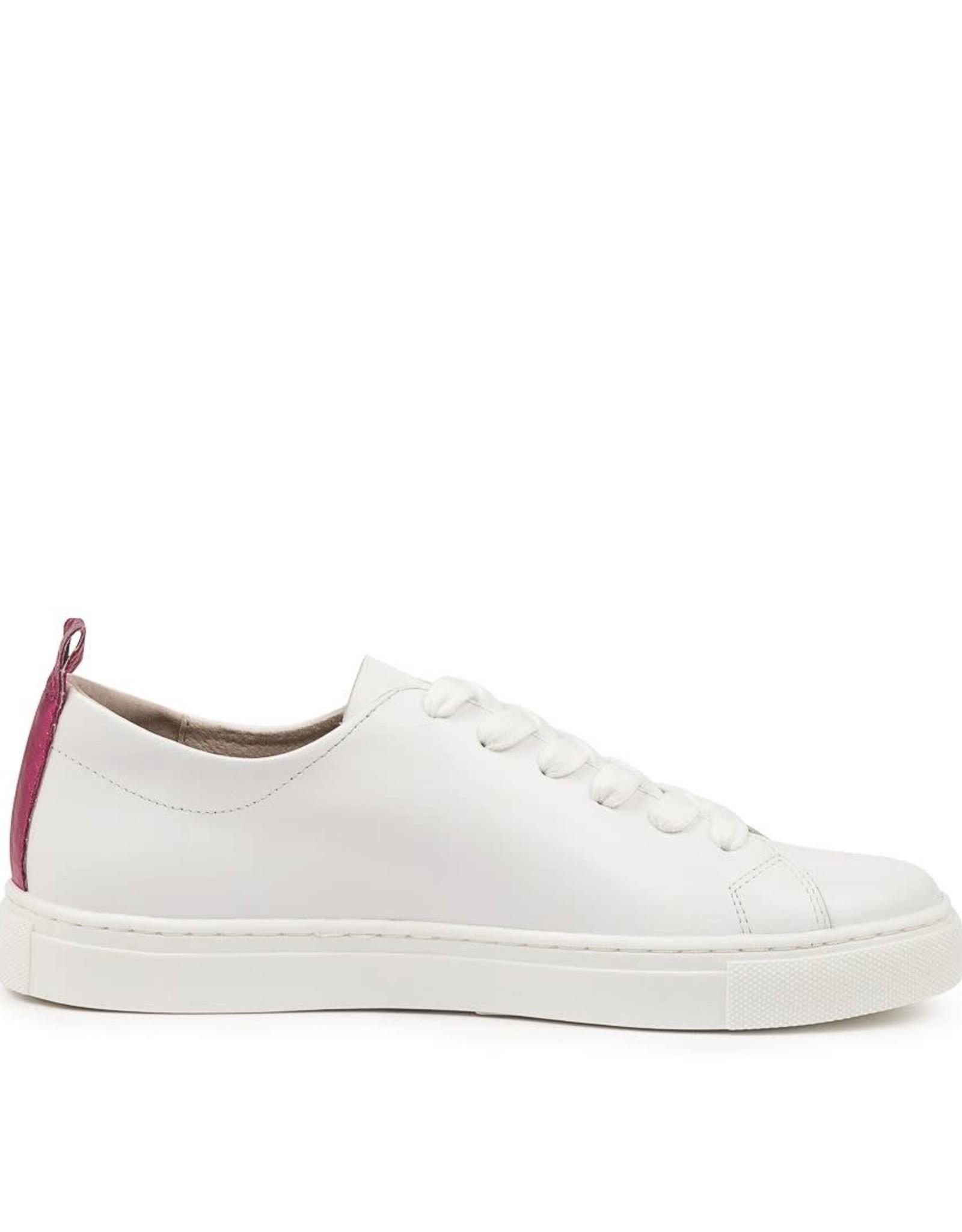 WALNUT Walnut - White Leather Sneaker (Green Glitter Heart)
