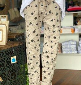 WEDNESDAY LULU Beige Star Pants