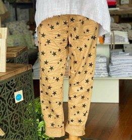 WEDNESDAY LULU Camel Star Pants
