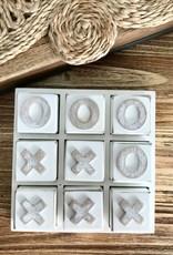 ALBI OCDEEM577 O&X Wooden Noughts + Crosses - White Wash