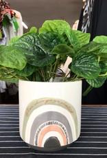 Urban products UG102493 Woodstock White Rainbow Planter - Small