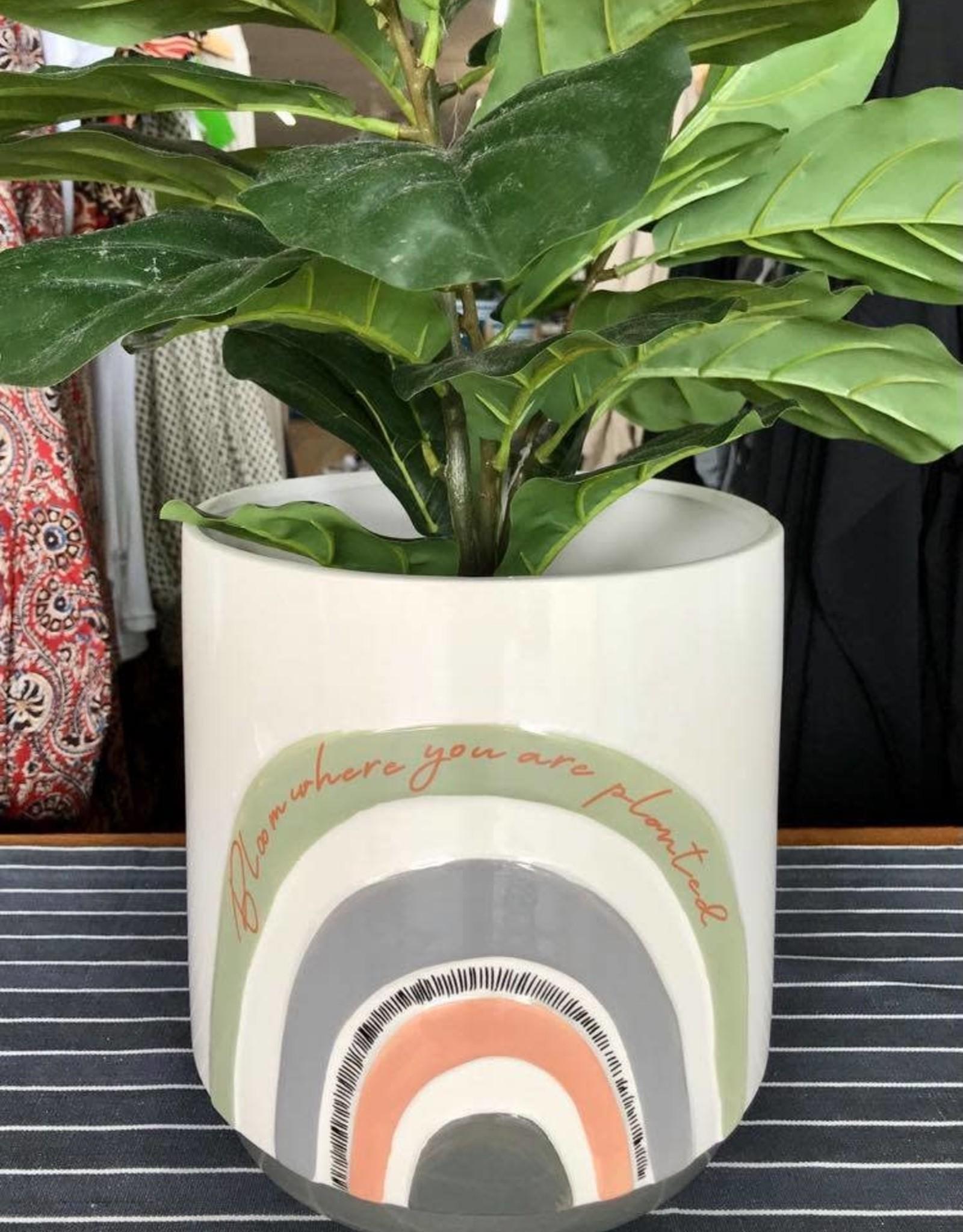 Urban products UG102495 Woodstock White Rainbow Planter - Large