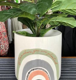 Urban products Woodstock White Rainbow Planter - Large