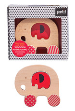 INDEPENDENCE STUDIOS PTC538 Elephant and Baby Wooden Push Car