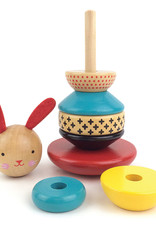 INDEPENDENCE STUDIOS PTC131 Wooden Stacking Bunny Toy