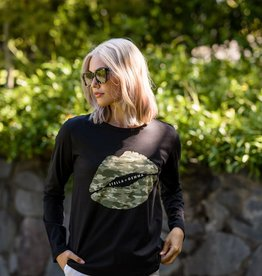 STELLA & GEMMA Camo Lips Long Sleeve T-Shirt