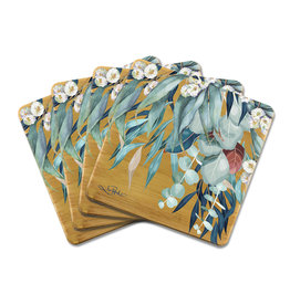 LISA POLLOCK Set/4 Bamboo Coaster - 4 Available Designs