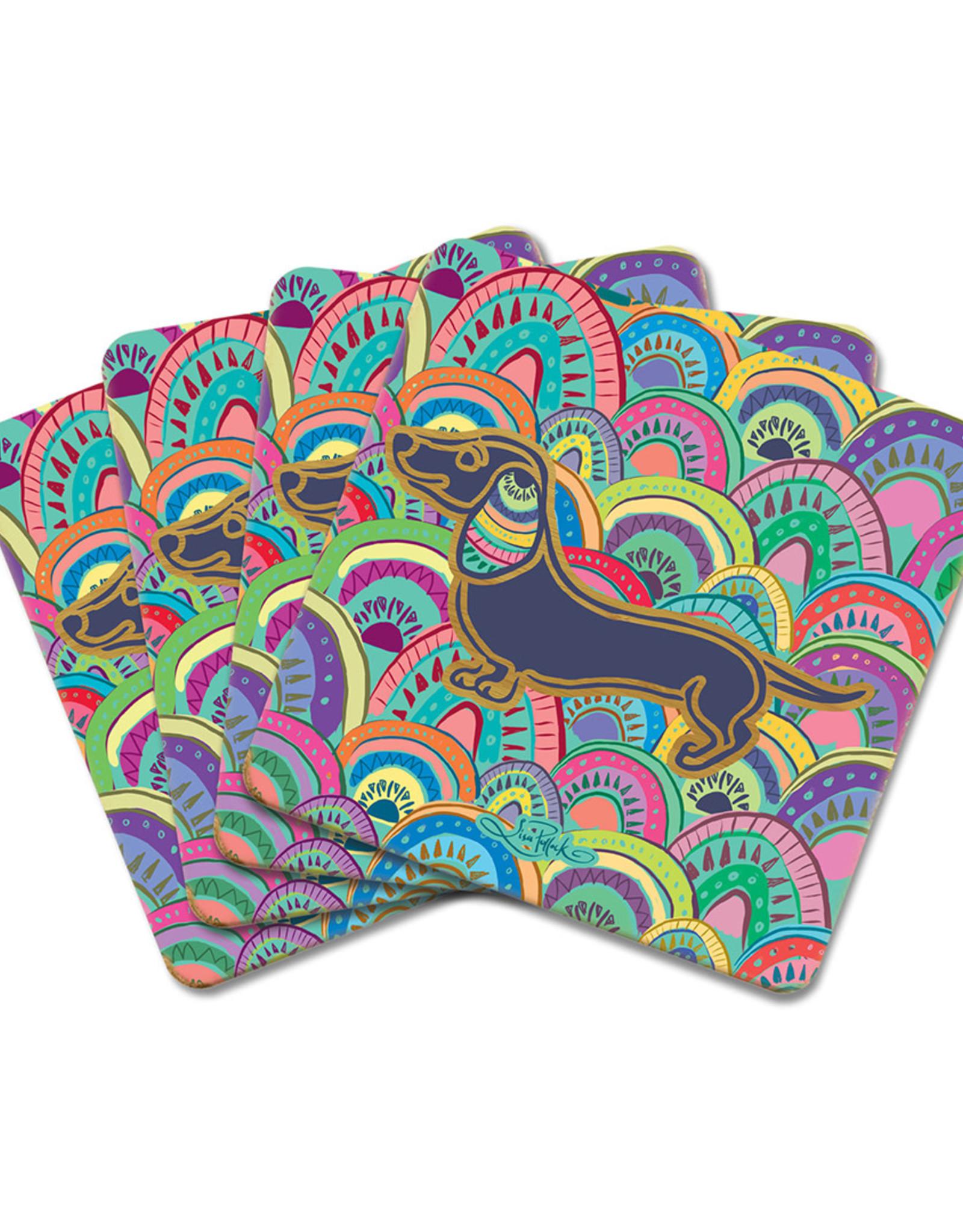 LISA POLLOCK Set/4 Bamboo Coaster - 4 Available Designs