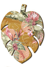 LISA POLLOCK Monstera Leaf Bamboo Platter
