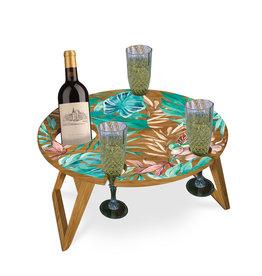 LISA POLLOCK Collapsible Bamboo Picnic Table - Small