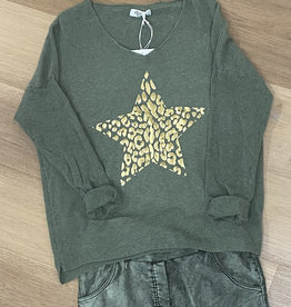AMICI GOLD FOIL STAR KNIT